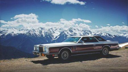 アメ車 と 風景